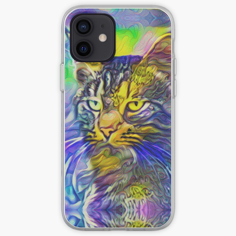 Artificial neural style iris flower cat iPhone Case & Cover