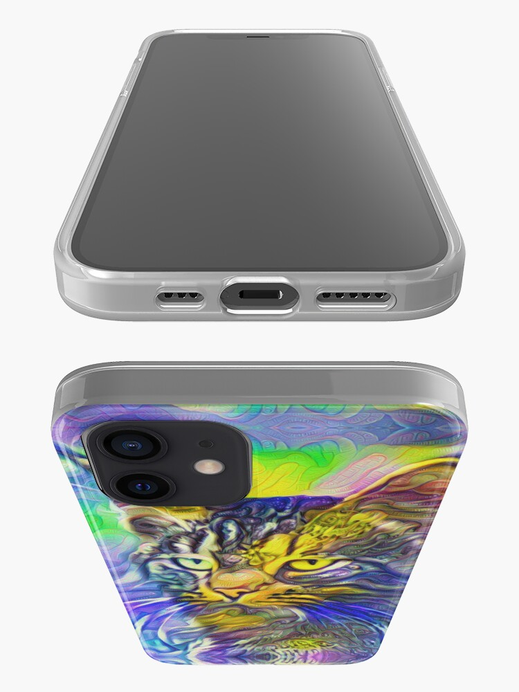 Alternate view of Artificial neural style iris flower cat iPhone Case & Cover