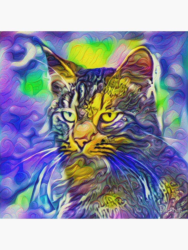 Artificial neural style iris flower cat by blackhalt