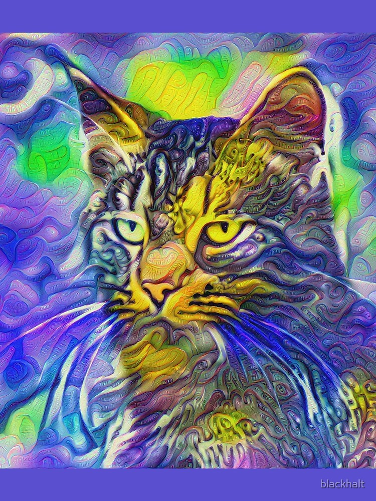 Artificial neural style iris flower cat by blackhalt