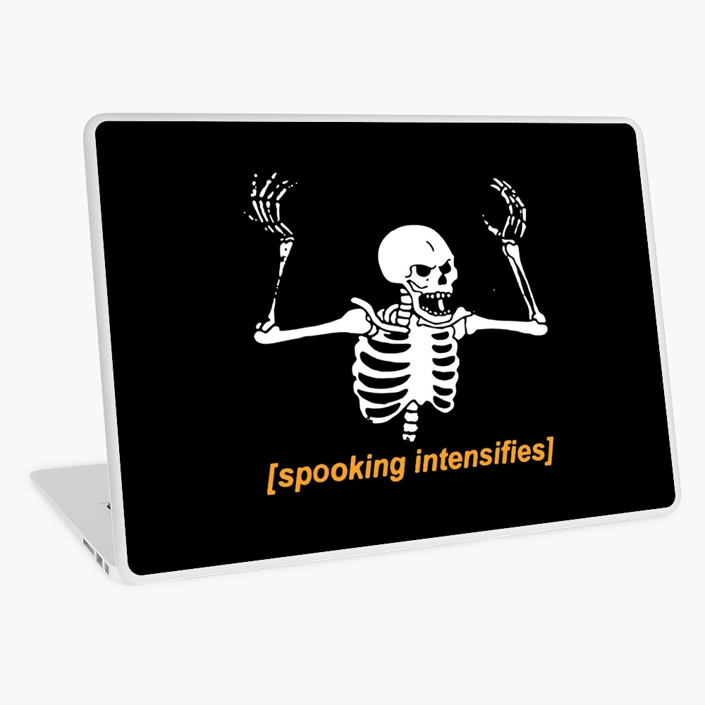 Spooky Skeleton Laptop Skin