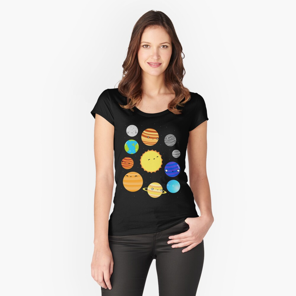 The Solar System Fitted Scoop T-Shirt
