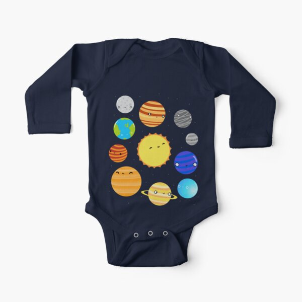 The Solar System Long Sleeve Baby One-Piece