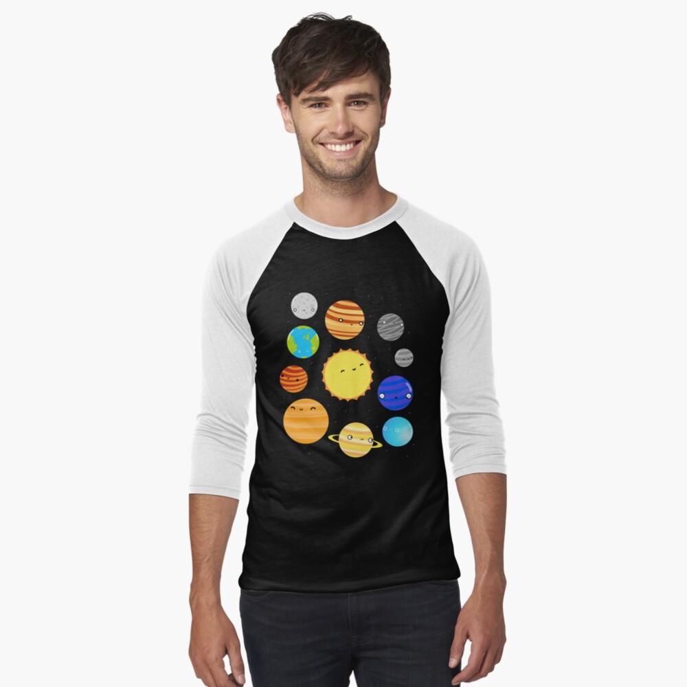 The Solar System Baseball ¾ Sleeve T-Shirt