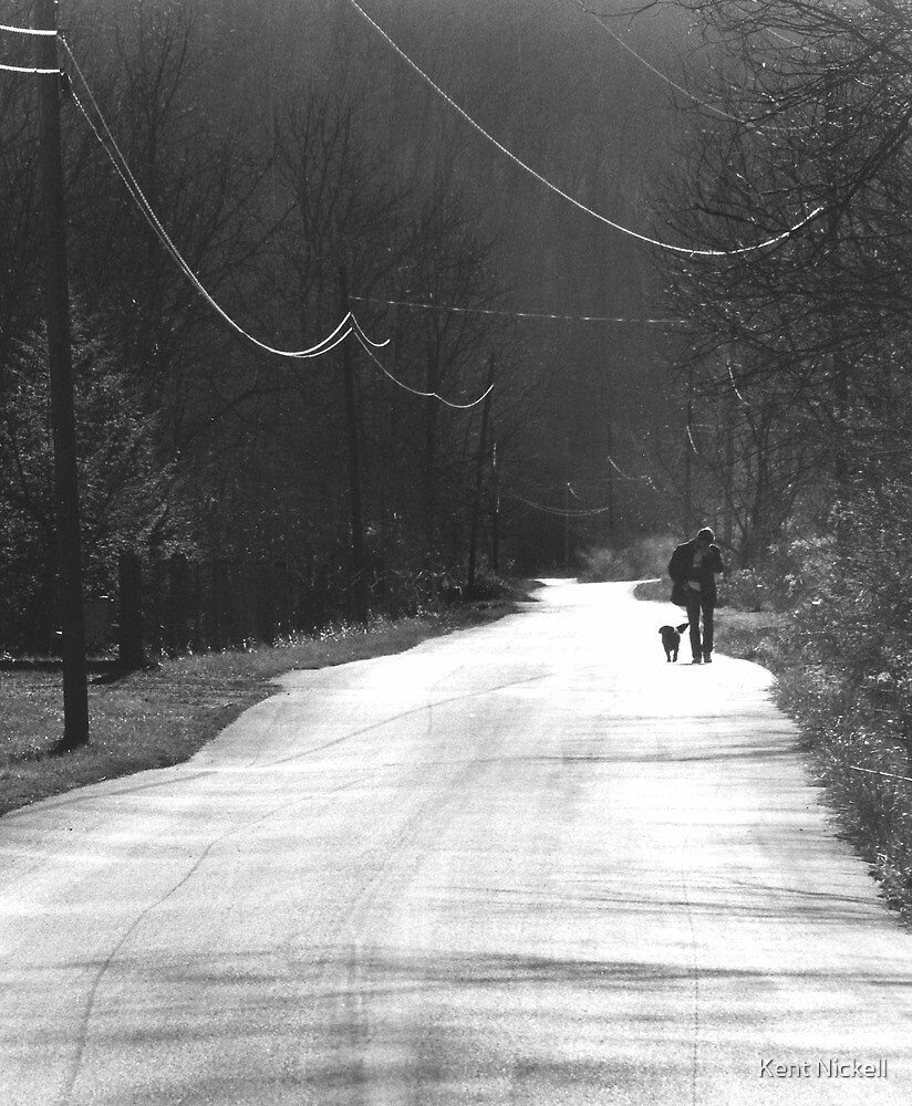 Walkin' Railroad Fork by Kent Nickell