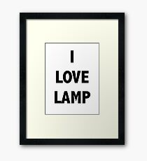 I LOVE LAMP Framed Print