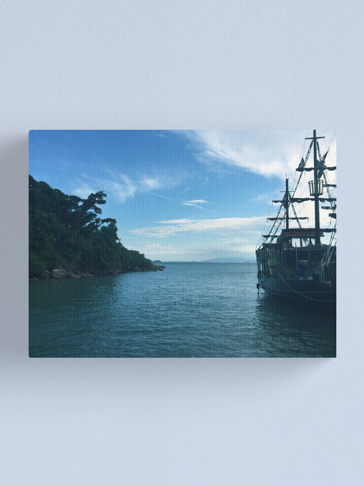 Alternate view of a ship in the sea - nature landscape photograph Canvas Print