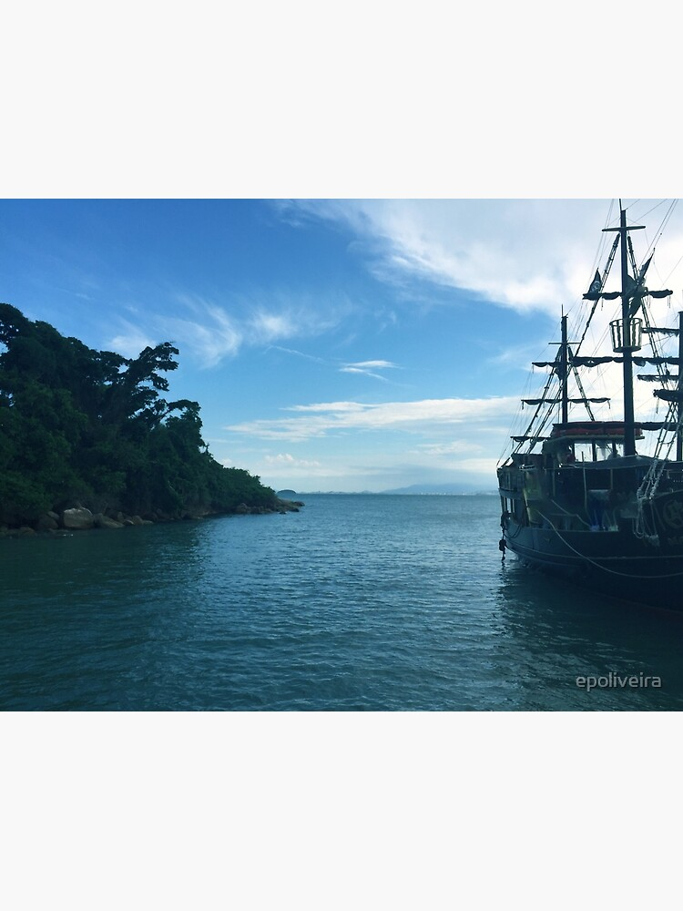 a ship in the sea - nature landscape photograph by epoliveira