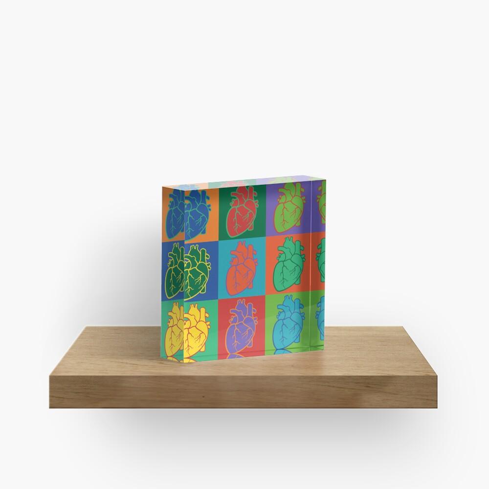 Pop Heart Acrylic Block