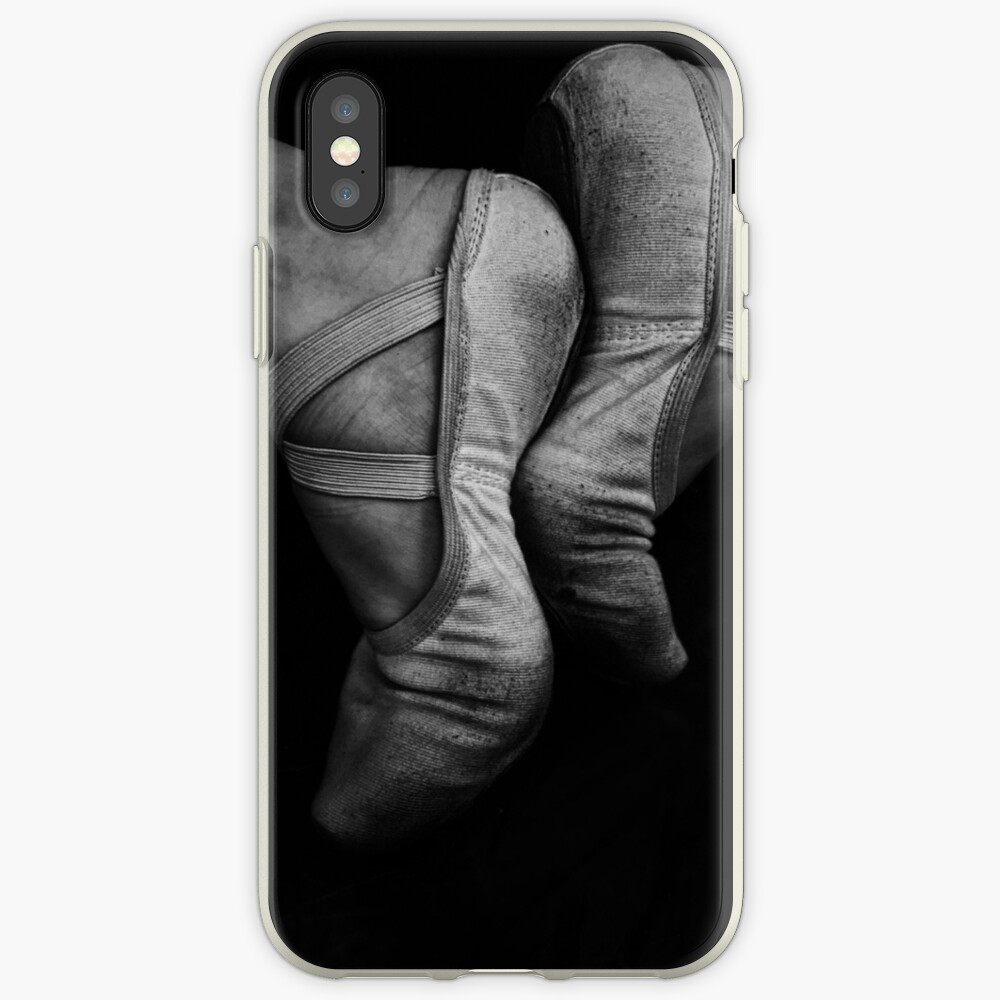 Ballet Slippers Black and White iPhone Case & Cover