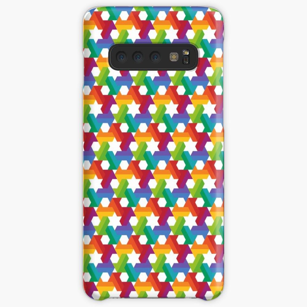 Rainbow Star Pattern Case & Skin for Samsung Galaxy