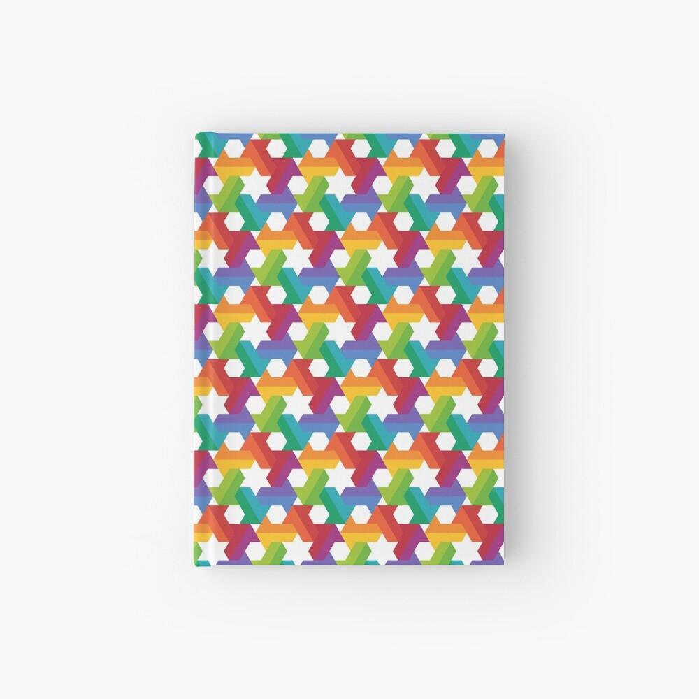 Rainbow Star Pattern Hardcover Journal