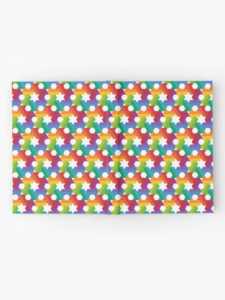 Alternate view of Rainbow Star Pattern Hardcover Journal