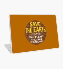 Save The Chocolate Earth Laptop Skin