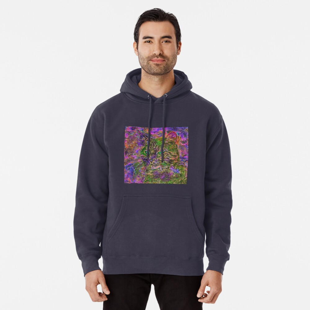 Abstract magick cat Pullover Hoodie