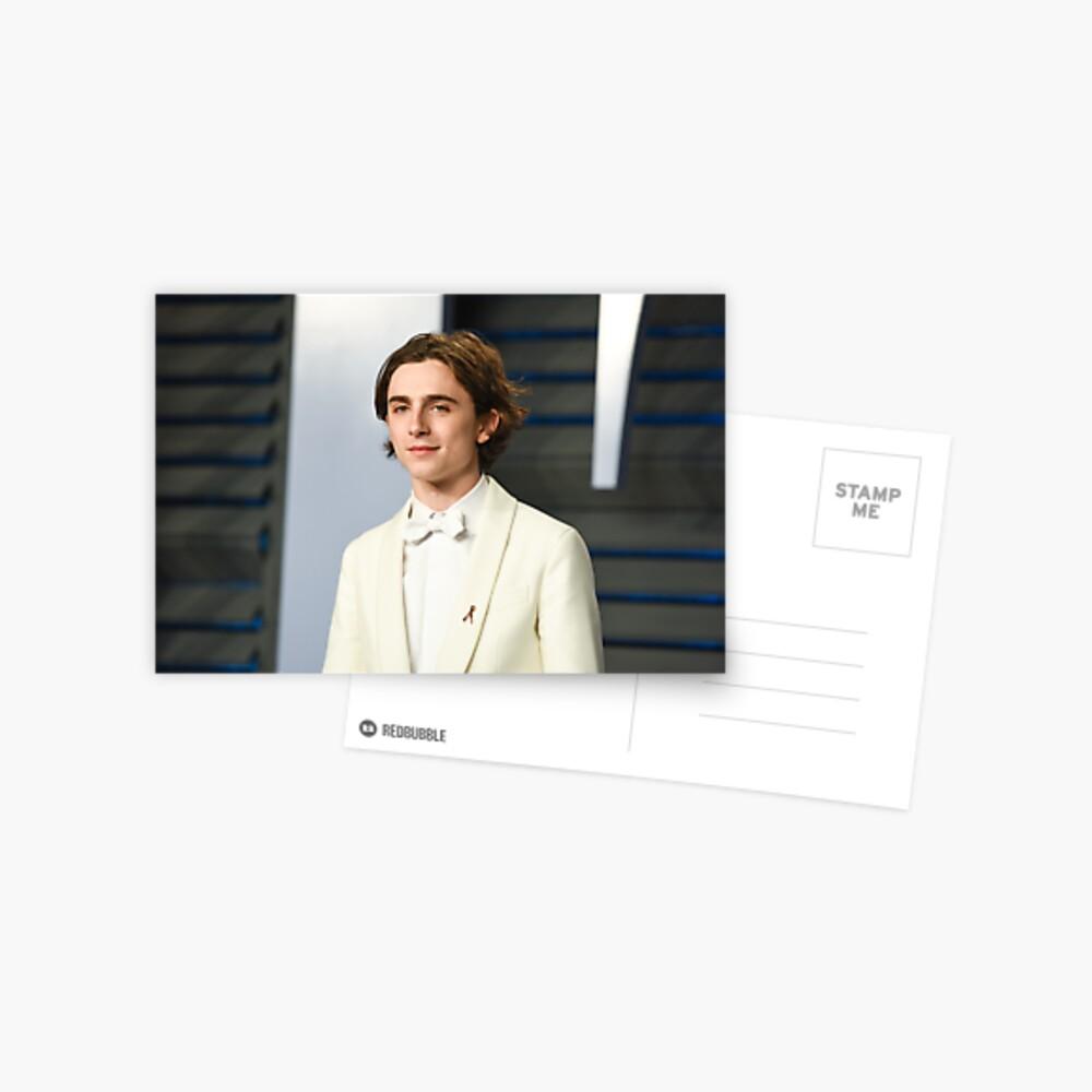 Timothée Chalamet Oscars 2018 Postkarte