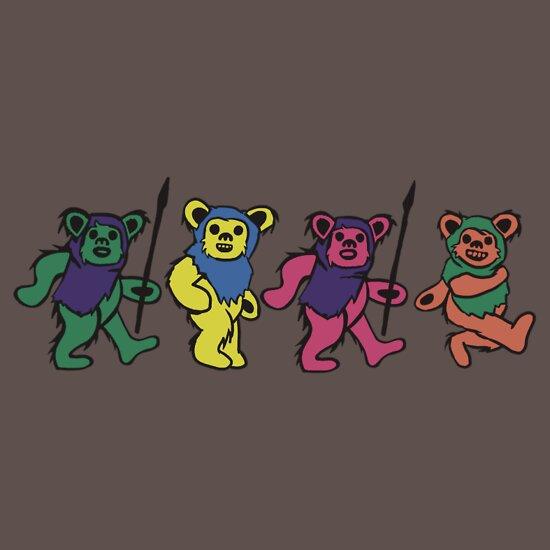 TShirtGifter presents: Grateful Ewoks - Dancing Bears Parody