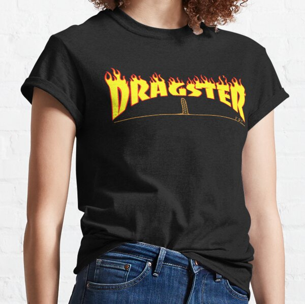 Dragster Flame Text ERC Classic T-Shirt