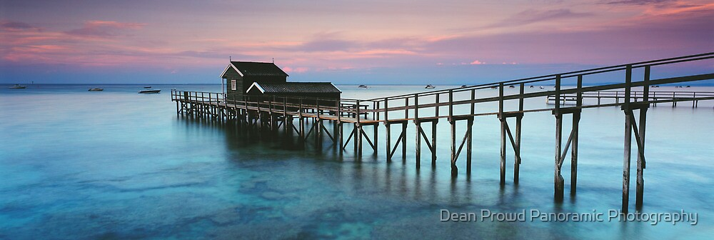 Shelly Beach Boathouse Portsea by Dean Prowd Panoramic Photography