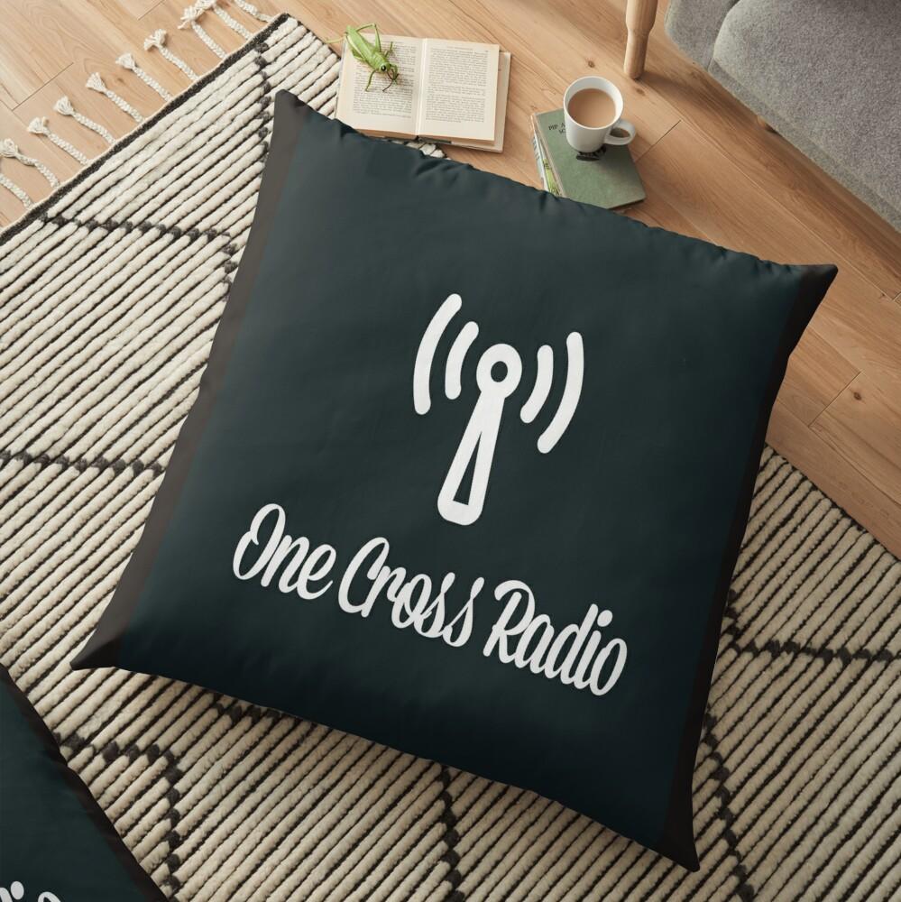 OCR Black Floor Pillow