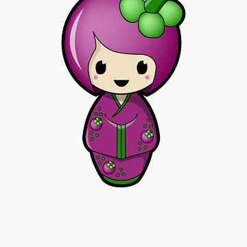 Mangosteen Kokeshi Doll by BubbleDoll
