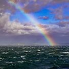 Rainbow in Rough Seas by DARRIN ALDRIDGE