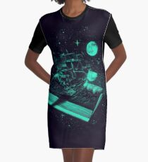 Crossing the Rough Sea of Knowledge Graphic T-Shirt Dress