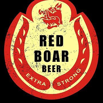 Black Knight's Red Boar Beer by karbondream