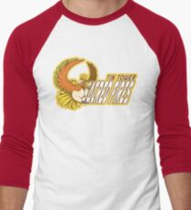 Tin Tower Sacred Fires: Ho-oh Sports Logo Men's Baseball ¾ T-Shirt