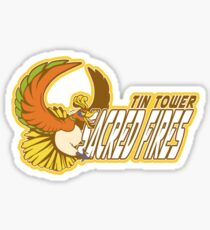 Tin Tower Sacred Fires: Ho-oh Sports Logo Sticker