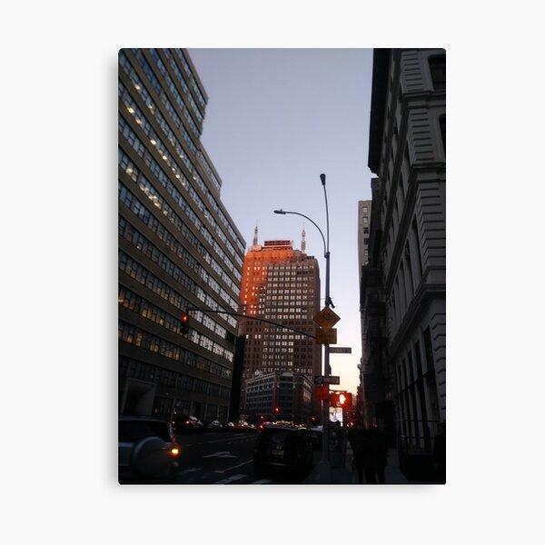 #city, #skyscraper, #street, #architecture, #road, #cityscape, #tower, #sky Canvas Print