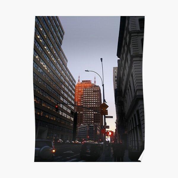 #city, #skyscraper, #street, #architecture, #road, #cityscape, #tower, #sky Poster