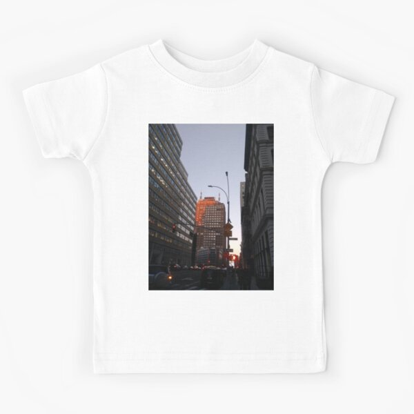 #city, #skyscraper, #street, #architecture, #road, #cityscape, #tower, #sky Kids T-Shirt