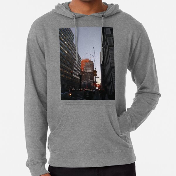 #city, #skyscraper, #street, #architecture, #road, #cityscape, #tower, #sky Lightweight Hoodie