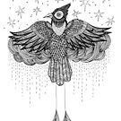 Regen Vogel von inkedinred