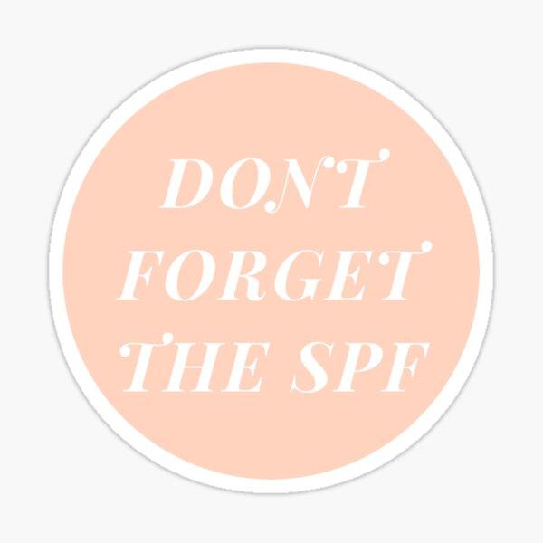 No olvides la pegatina SPF 2.0 Pegatina