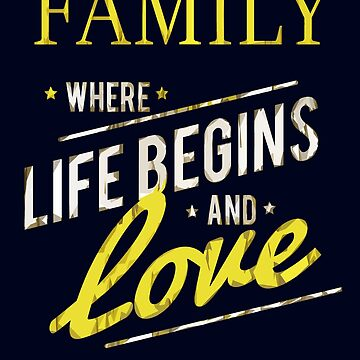 Family Love Gift, Family Forever, Family Love Quote by MDAM