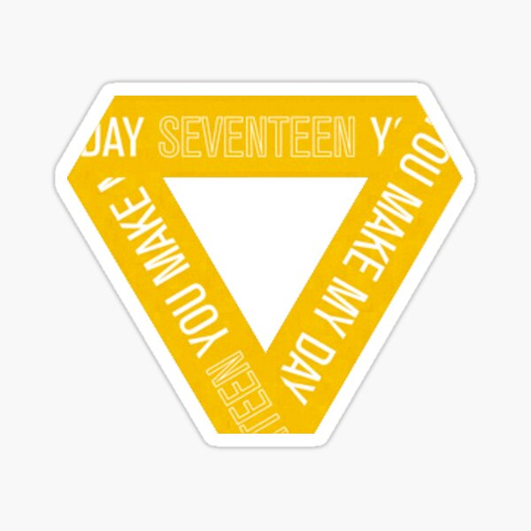 seventeen ymmd logo (yellow) Sticker