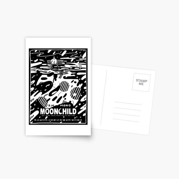 "☾ RM - MONO - ""Moonchild"" ☽ Postcard"