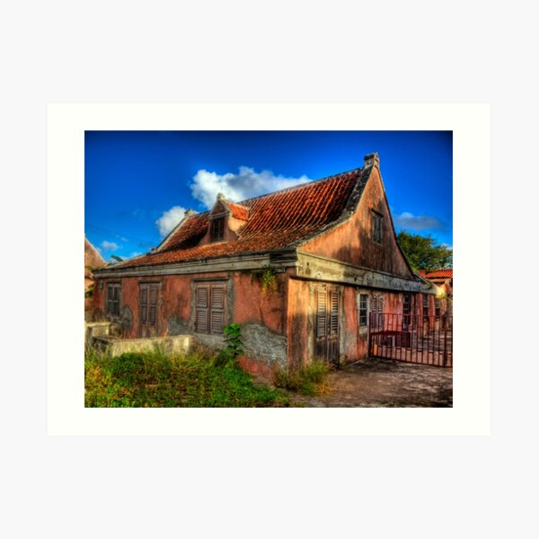 Another Derelict House on Curacao Art Print