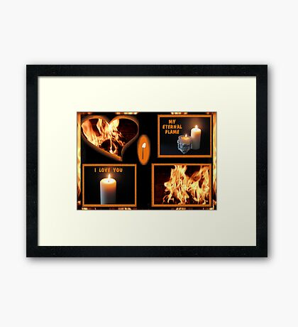 From A Flicker To A Flame Framed Print