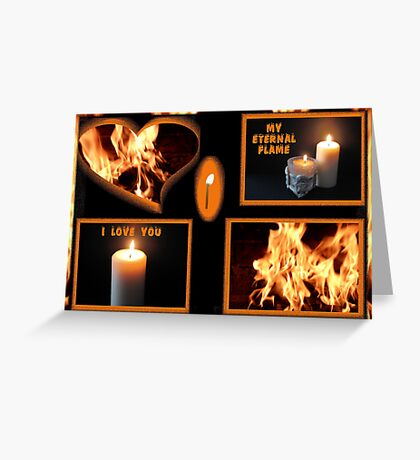 From A Flicker To A Flame Greeting Card