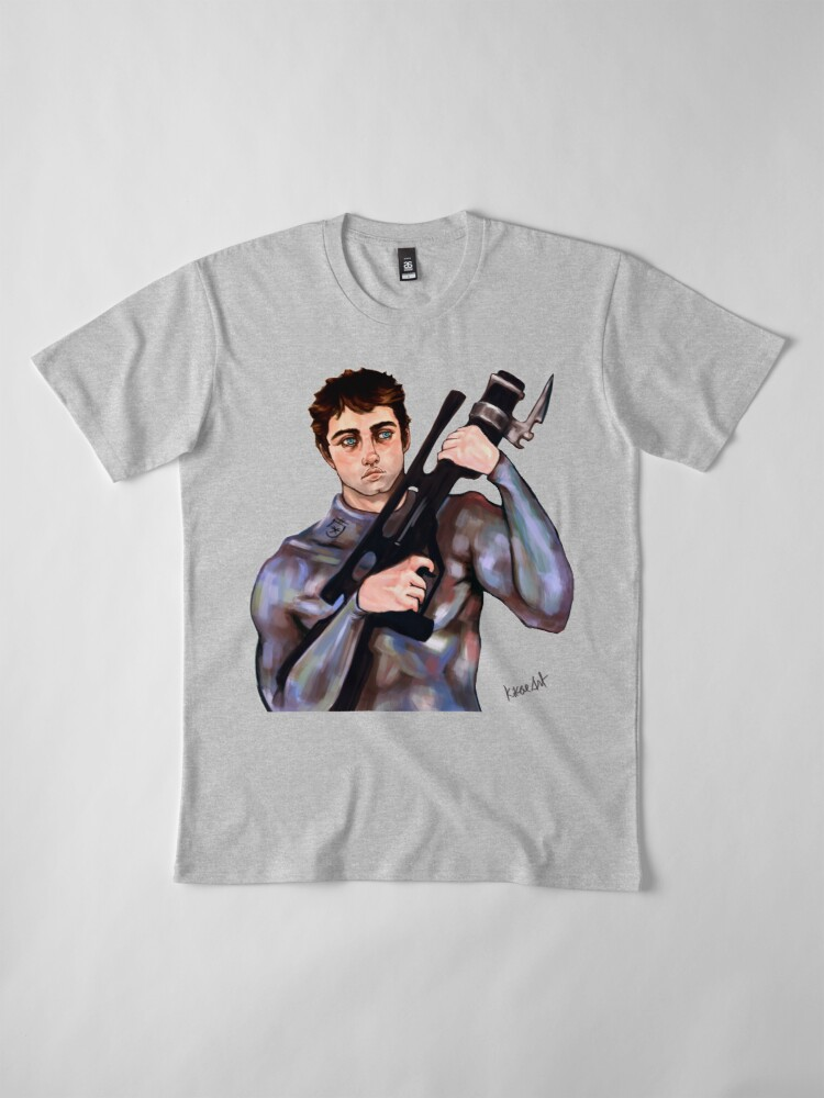 Alternate view of Sci Fi Army Soldier With a Big Gun Premium T-Shirt
