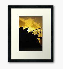 Sydney Opera House und Harbour Bridge-Alternative 1 Gerahmter Kunstdruck