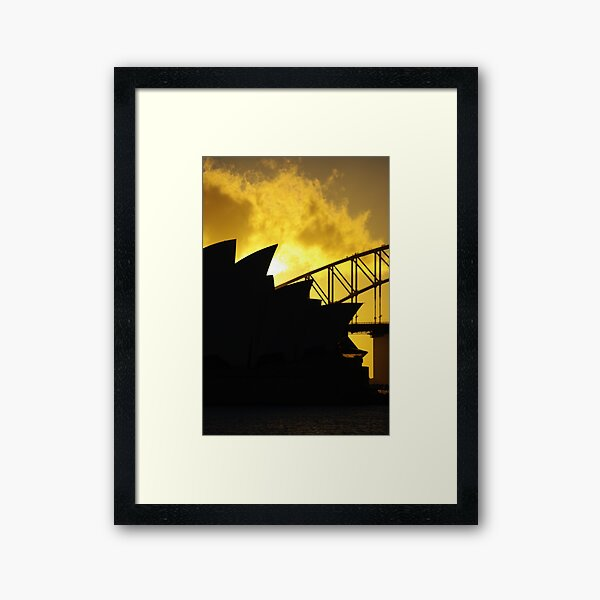 Sydney Opera House and Harbour Bridge-Alternate 1 Framed Art Print