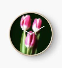 Three Beautiful Tulips Clock