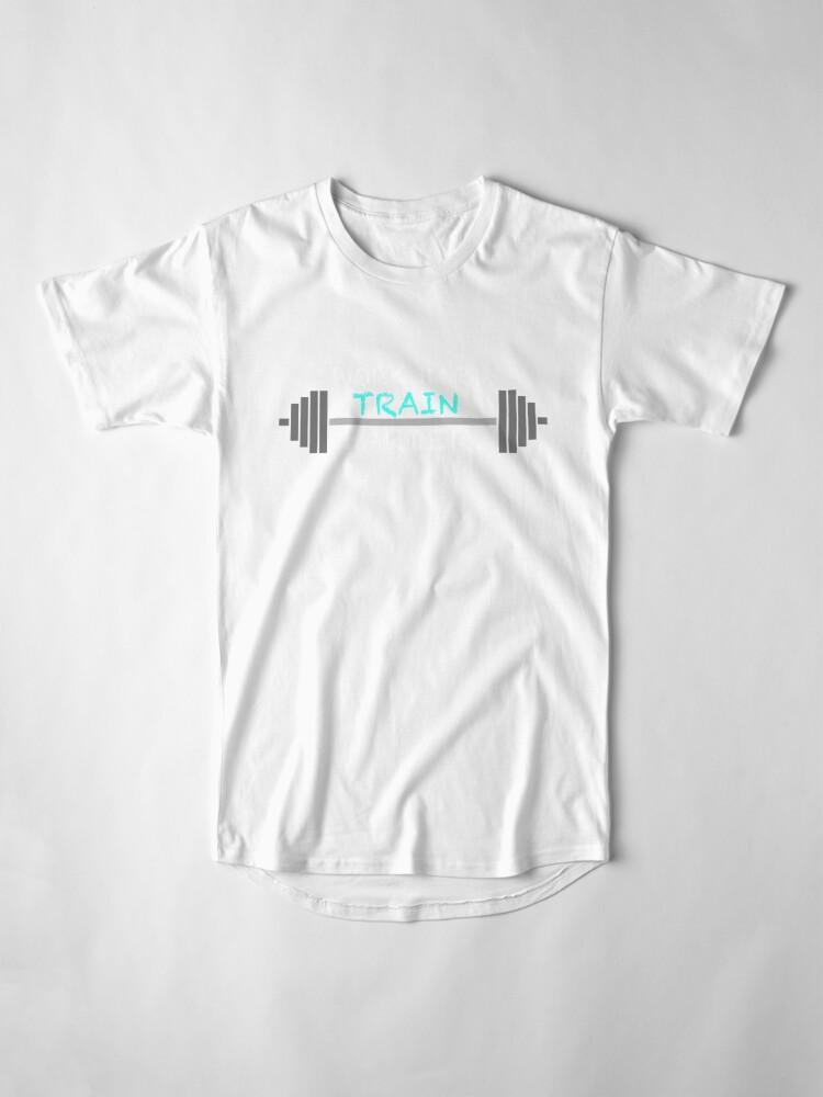 Alternative Ansicht von WORK HARD TRAIN HARDER Workout Geschenk Fitness Bodybuilding Longshirt