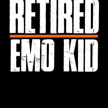 Retired Emo Kid Shirt Funny Emo TShirt by Kimcf