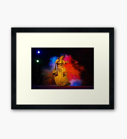 Contemporary Indian Classical Dance-Mamata Shankar Ballet Troupe  Framed Print