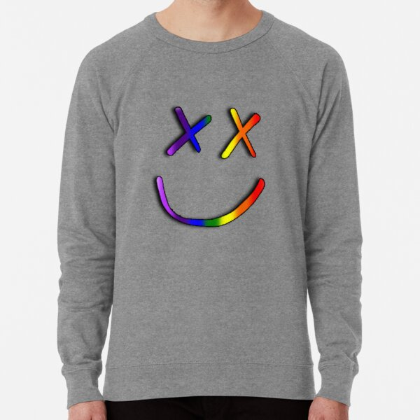 Louis Tomlinson Rainbow Smiley 2 - Blanc Sweatshirt léger